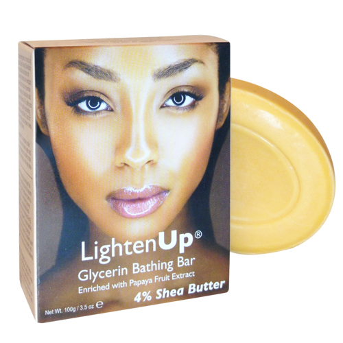 LigthenUp Glycerin Bathing Bar with Papaya Fruit Extract and 4% Shea Butter