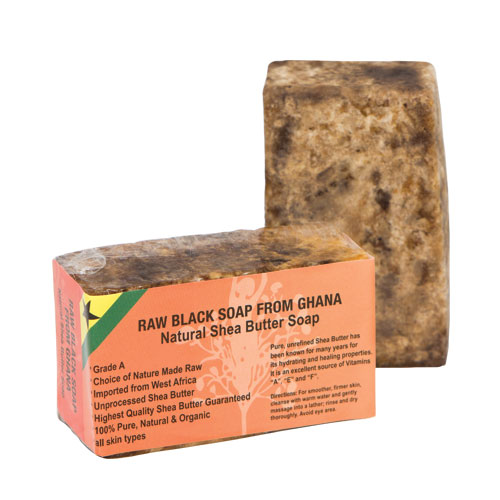 Natural Shea Butter Soap Approx. 6oz | Raw Black Soap